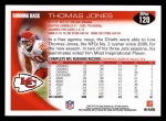 2010 Topps #120  Thomas Jones  Back Thumbnail