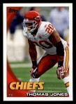 2010 Topps #120  Thomas Jones  Front Thumbnail