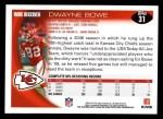 2010 Topps #31  Dwayne Bowe  Back Thumbnail