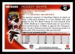2010 Topps #42  Roddy White  Back Thumbnail