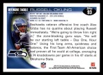 2010 Topps #93  Russell Okung  Back Thumbnail