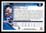 2010 Topps #69  Brandon Spikes  Back Thumbnail