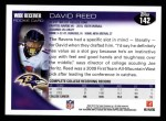 2010 Topps #142  David Reed  Back Thumbnail