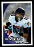 2010 Topps #142  David Reed  Front Thumbnail