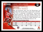 2010 Topps #44  Mike Williams  Back Thumbnail