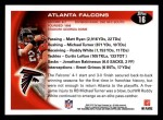 2010 Topps #16   -  Matt Ryan Falcons Team Back Thumbnail