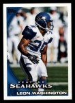 2010 Topps #89  Leon Washington  Front Thumbnail
