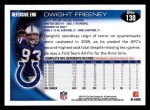 2010 Topps #130  Dwight Freeney  Back Thumbnail