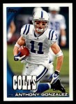 2010 Topps #38  Anthony Gonzalez  Front Thumbnail