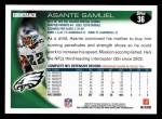 2010 Topps #36  Asante Samuel  Back Thumbnail