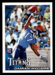 2010 Topps #72  Damian Williams  Front Thumbnail