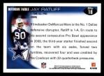 2010 Topps #18  Jay Ratliff  Back Thumbnail