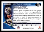 2010 Topps #135  Brandon Gibson  Back Thumbnail