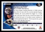 2010 Topps #135  Brandon Gibson  Back Thumbnail