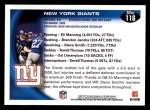 2010 Topps #116   -  Eli Manning / Brandon Jacobs Giants Team Back Thumbnail