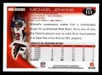 2010 Topps #111  Michael Jenkins  Back Thumbnail