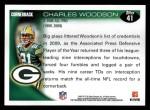 2010 Topps #41  Charles Woodson  Back Thumbnail