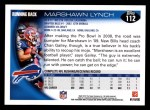 2010 Topps #112  Marshawn Lynch  Back Thumbnail