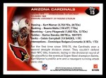 2010 Topps #15   -  Hightower / Larry Fitzgerald Cardinals Team Back Thumbnail