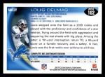 2010 Topps #102  Louis Delmas  Back Thumbnail