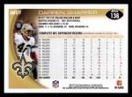 2010 Topps #136  Darren Sharper  Back Thumbnail