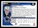 2010 Topps #107  Sean Lee  Back Thumbnail
