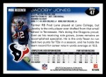 2010 Topps #47  Jacoby Jones  Back Thumbnail