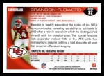 2010 Topps #92  Brandon Flowers  Back Thumbnail