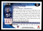 2010 Topps #23  Jason Pierre-Paul  Back Thumbnail
