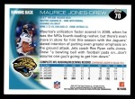 2010 Topps #70  Maurice Jones-Drew  Back Thumbnail