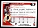 2010 Topps #84  Willie Parker  Back Thumbnail