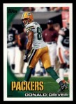 2010 Topps #76  Donald Driver  Front Thumbnail