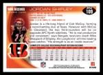 2010 Topps #109  Jordan Shipley  Back Thumbnail