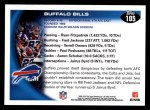 2010 Topps #105   -  Fred Jackson / Lee Evans Bills Team Back Thumbnail