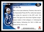 2010 Topps #129  Dwight Freeney  Back Thumbnail