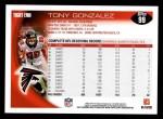2010 Topps #99  Tony Gonzalez  Back Thumbnail