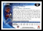 2010 Topps #32  Amari Spievey  Back Thumbnail