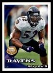 2010 Topps #25  Ray Lewis  Front Thumbnail