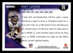 2010 Topps #25  Ray Lewis  Back Thumbnail