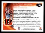 2010 Topps #184   -  Carson Palmer / Chad Ochocinco Bengals Team Back Thumbnail