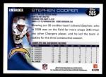 2010 Topps #205  Stephen Cooper  Back Thumbnail
