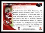 2010 Topps #173  Anthony Davis  Back Thumbnail