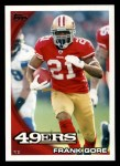 2010 Topps #257  Frank Gore  Front Thumbnail