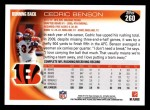 2010 Topps #260  Cedric Benson  Back Thumbnail
