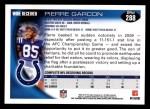 2010 Topps #288  Pierre Garcon  Back Thumbnail