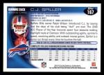 2010 Topps #167  C.J. Spiller  Back Thumbnail