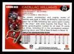 2010 Topps #212  Cadillac Williams  Back Thumbnail