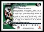 2010 Topps #246  LeSean McCoy  Back Thumbnail