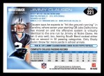2010 Topps #221  Jimmy Clausen  Back Thumbnail