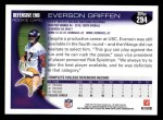 2010 Topps #294  Everson Griffen  Back Thumbnail